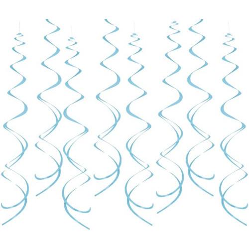Powder Blue Hanging Swirls