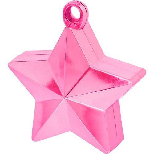 Magenta Star Balloon Weight