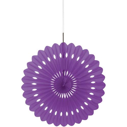 Pretty Purple Decorative Fan 40cm