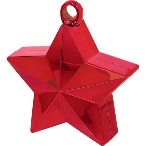 Red Star Balloon Weight