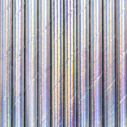 Iridescent Paper Straws ( x 10)