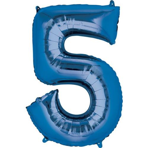Blue No. 5 Foil Balloon