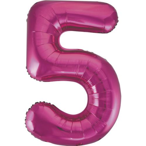 Magenta No. 5 Giant Foil Balloon