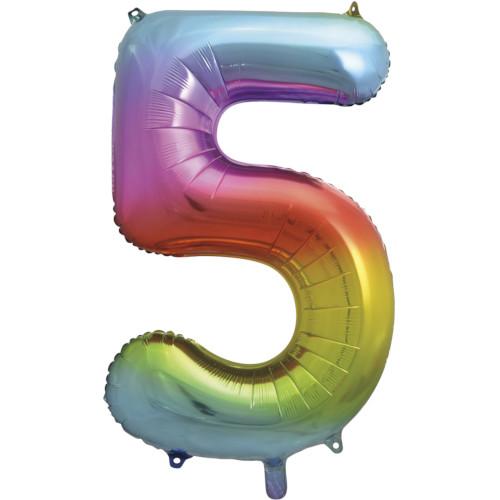 No. 5 Giant Foil Balloon