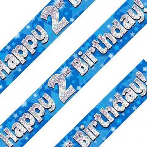 Blue 2nd Birthday Banner