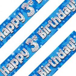 Blue 3rd Birthday Banner