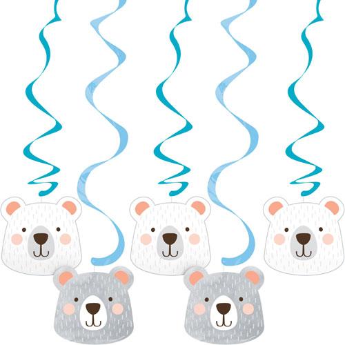Bear Dizzy Danglers (x 5)