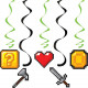 Gaming Dizzy Danglers (x 5)