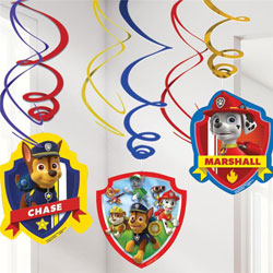 Paw Patrol Hanging Decorations (Pk 6)