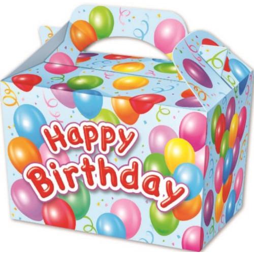 Blue Happy Birthday Party Box