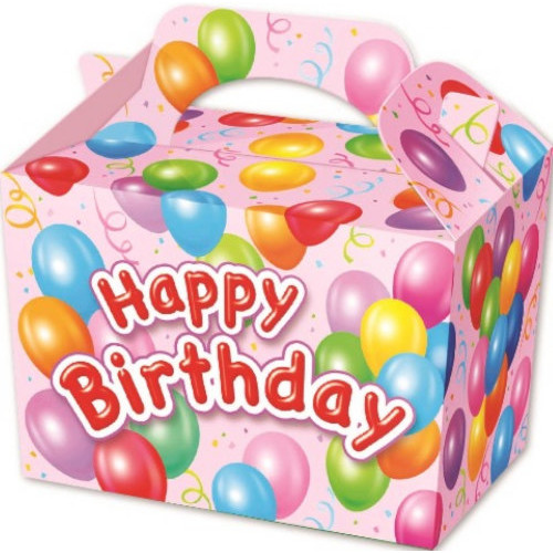 Pink Happy Birthday Party Box