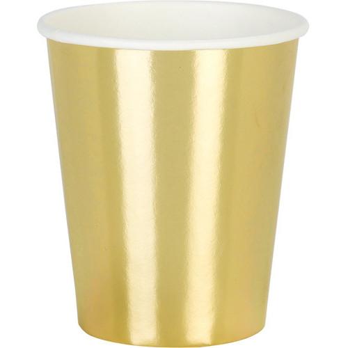 Gold Metallic Cups ( x 8)