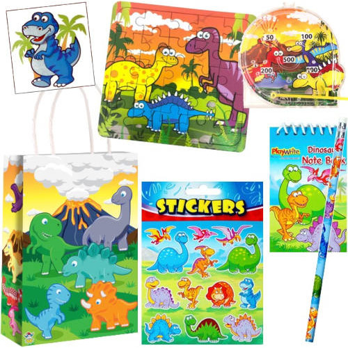 Dinosaur Filled Paper Party Bag S