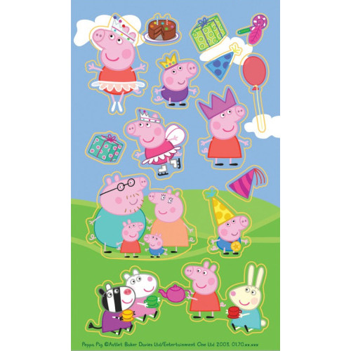 Peppa Pig Sticker Sheets ( x 6)