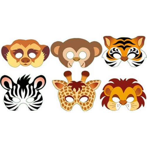 Jungle Masks ( x 12)