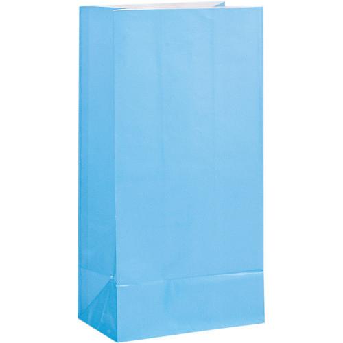 Powder Blue Paper Party Bags ( x 12)