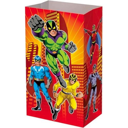Super Hero Paper Party Bags ( x 12)