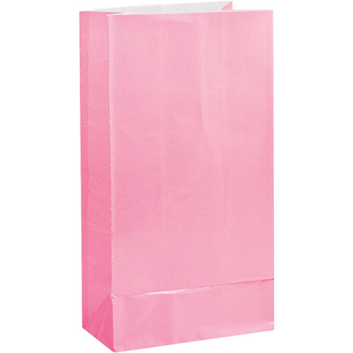 Pastel Pink Paper Party Bags ( x 12)