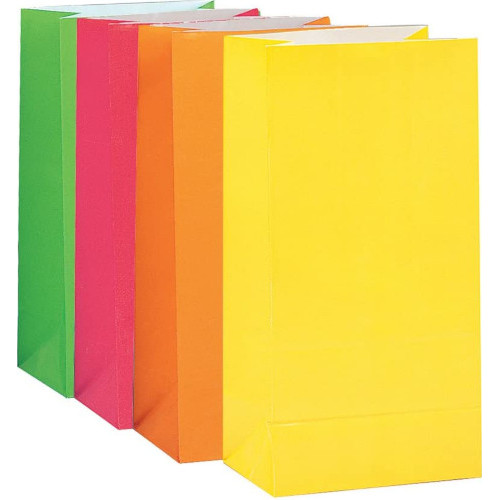 Assorted Paper Party Bags ( x 10)
