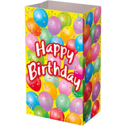 Happy Birthday Paper Party Bags ( x 12)