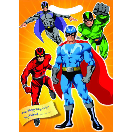 Super Hero Party Bags ( x 8)