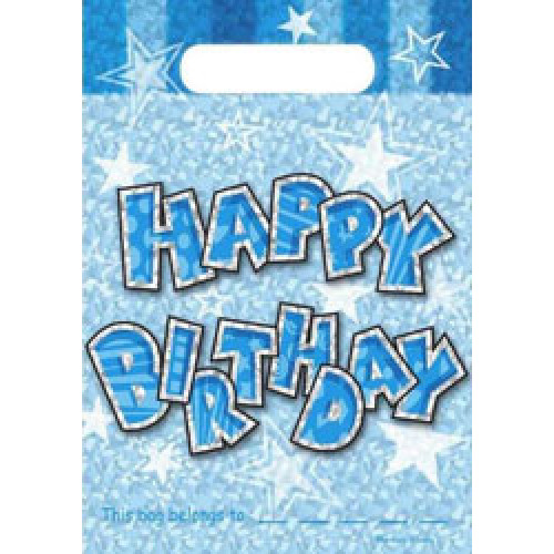 Birthday Blue Party Bags ( x 20)