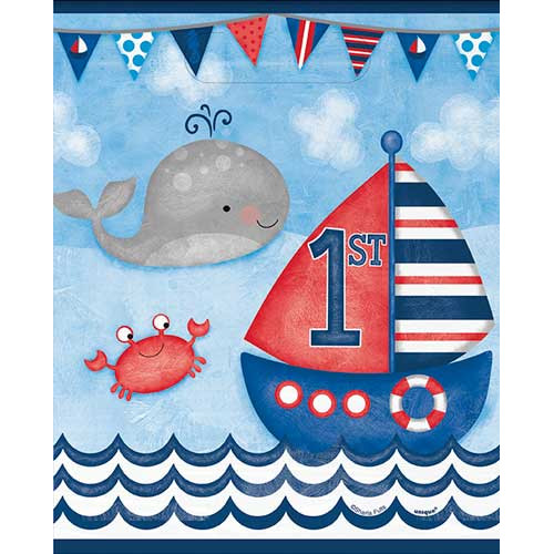 Nautical 1st Birthday Party Bags ( x 8)