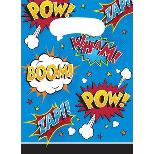 Superhero Slogans Party Bags ( x 8)