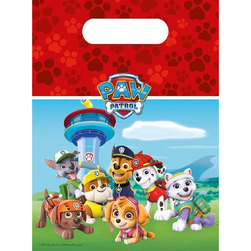 Paw Patrol Party Bags ( x 6)