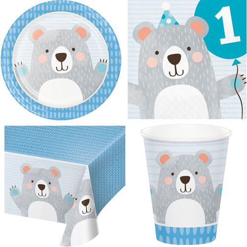 1st Birthday Bear Party Pack (16 Guest)