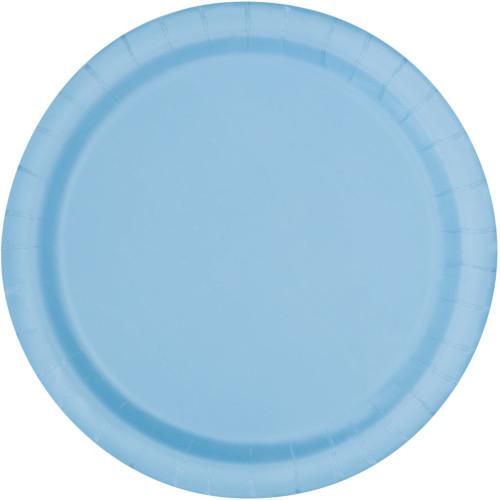 Powder Blue Plates 22cm ( x 16)