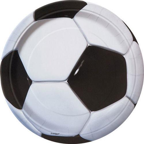 Football Plates 22cm ( x 8)
