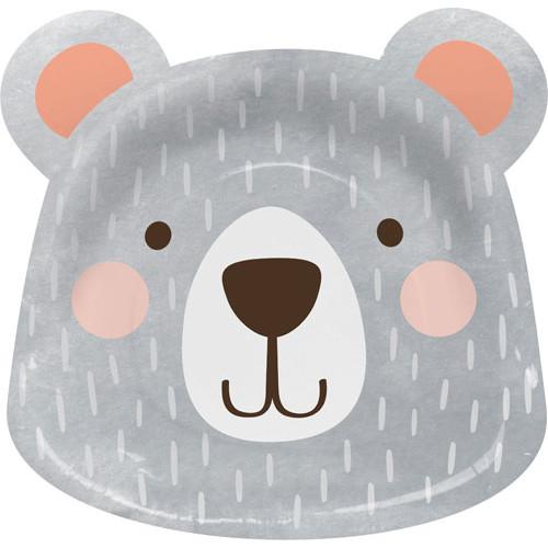 Bear Shaped Plates (x 8)