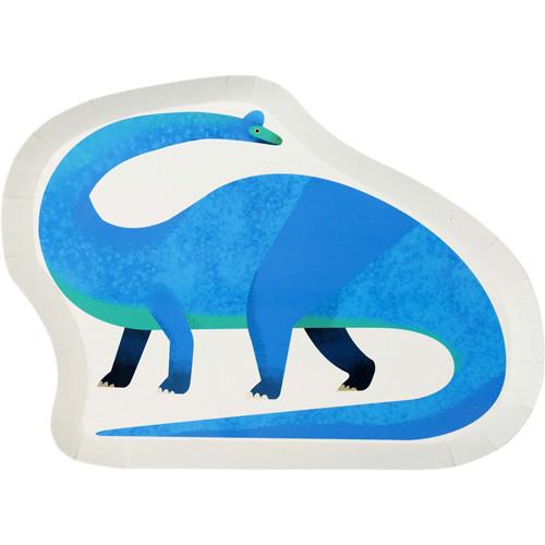 Party Dinosaur Shaped Plates (x 12)