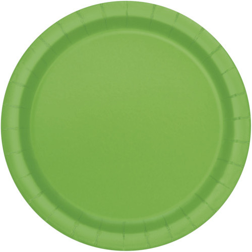 Lime Green Plates 22cm ( x 16)