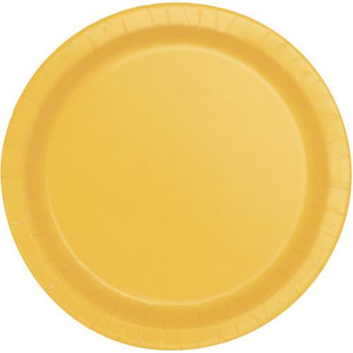 Sunflower Yellow Plates 22cm ( x 16)