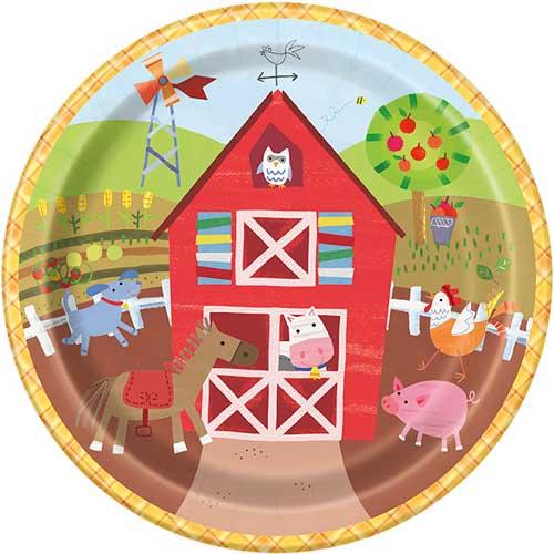 Farm Plates 22cm ( x 8)